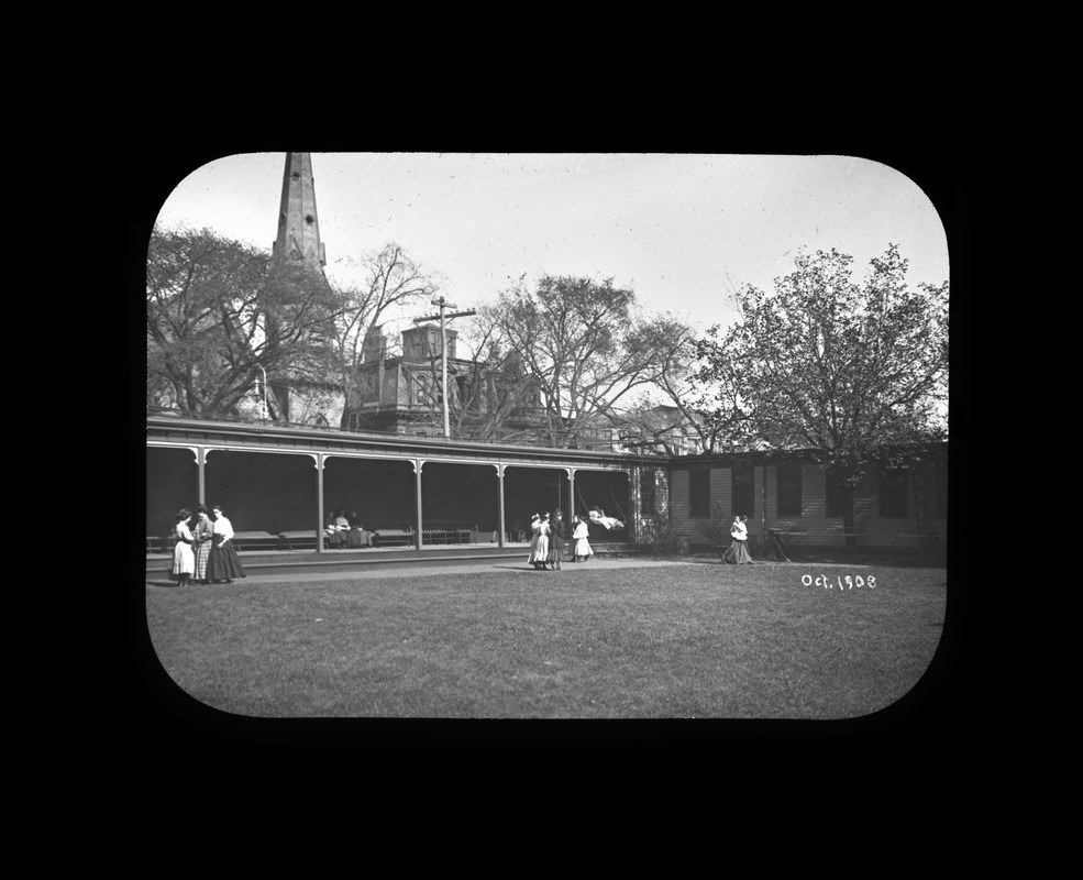 Courtyard, Perkins Institution, South Boston, 1908
