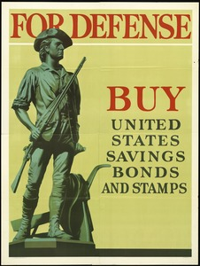 Savings Bonds and Stamps Poster, World War II