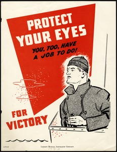 Protect Your Eyes Poster, World War II