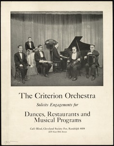 The Criterion Orchestra, Cleveland Society For the Blind