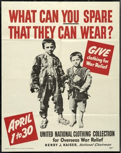 United National Clothing Collection for Overseas War Relief, World War II