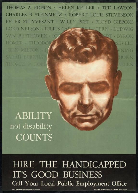 Ability Not Disability Counts, U. S. Dept. of Labor