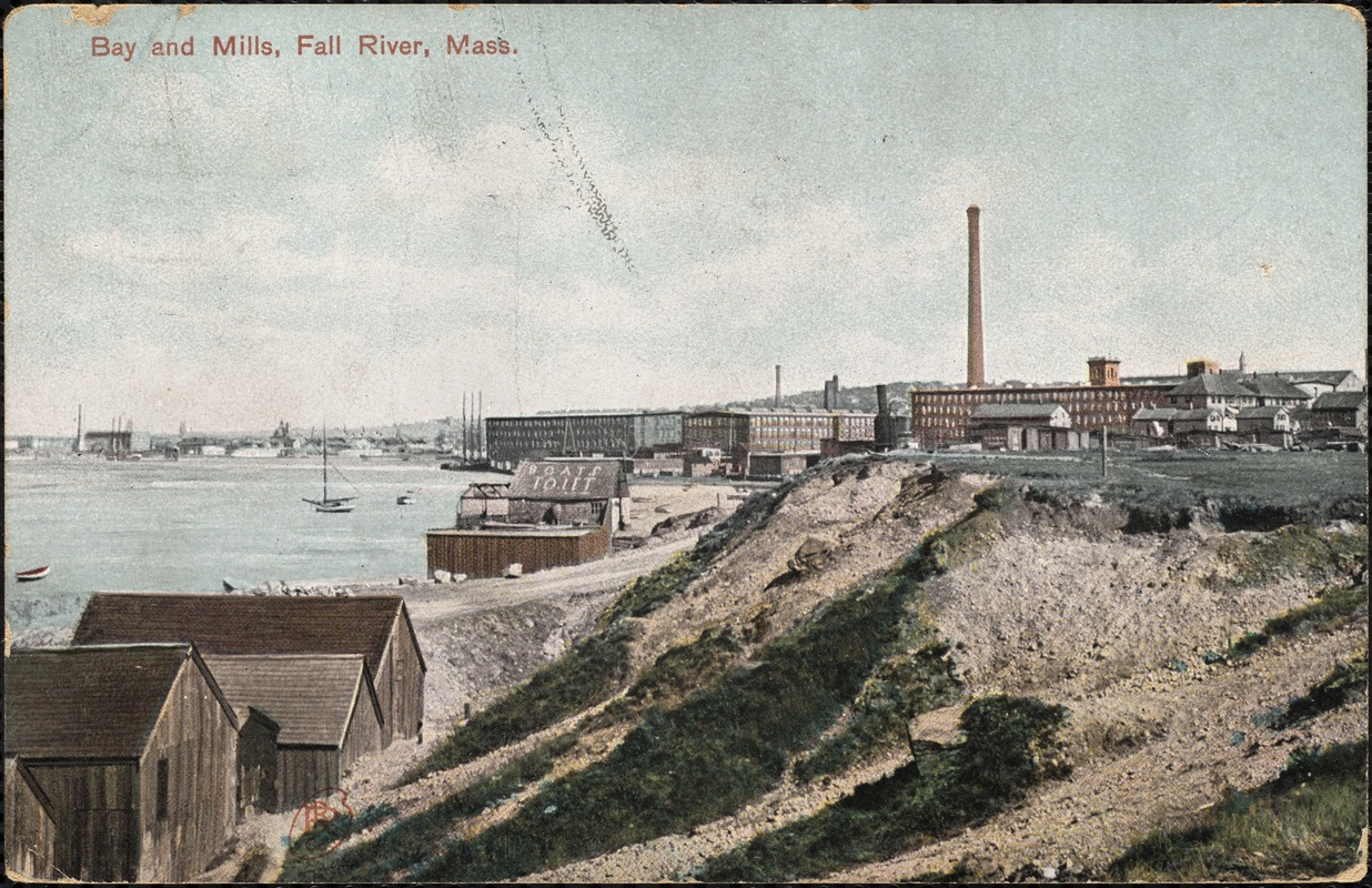 Bay and mills, Fall River, Mass.