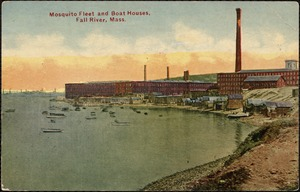 Mosquito fleet and boat houses, Fall River, Mass.