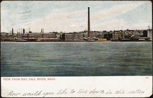 View from bay, Fall River, Mass.