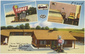 "For the ""Rest"" of your life, Chesnut © Lodge, Arnett, Oklahoma, east of city, on U.S. 60 and 283"
