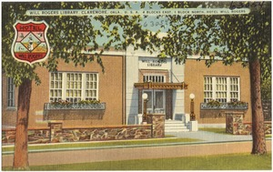 Will Rogers Library, Claremore, Okla., U.S.A., 4 blocks east, 1 block north, Hotel Will Rogers