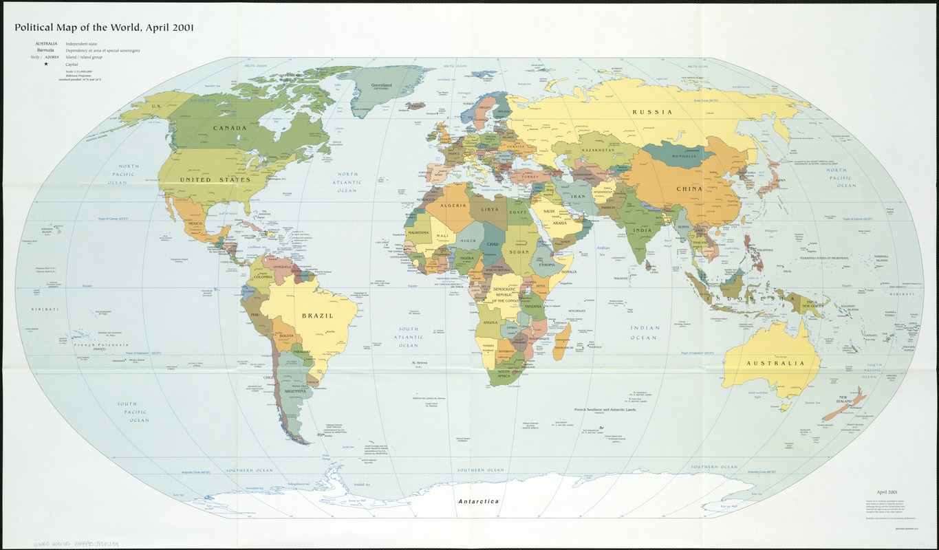 Political map of the world, April 2001