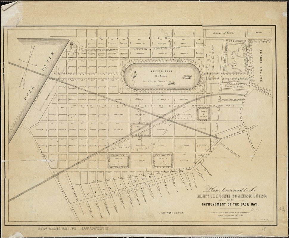 Plan presented to the honble. the State Commissioners for the improvement of the Back Bay