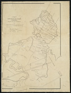 A plan of the salt marsh and upland in Roxbury, lying the east side of the Mill Creek