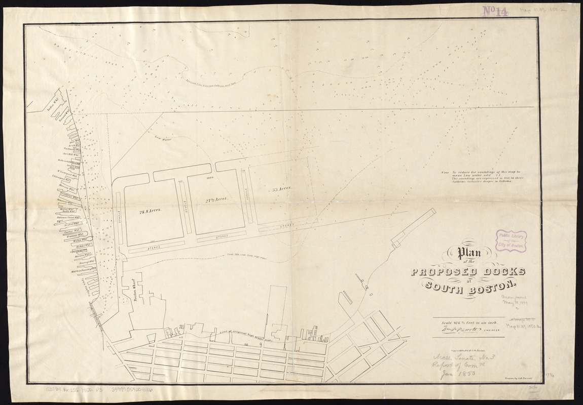Plan of the proposed docks at South Boston