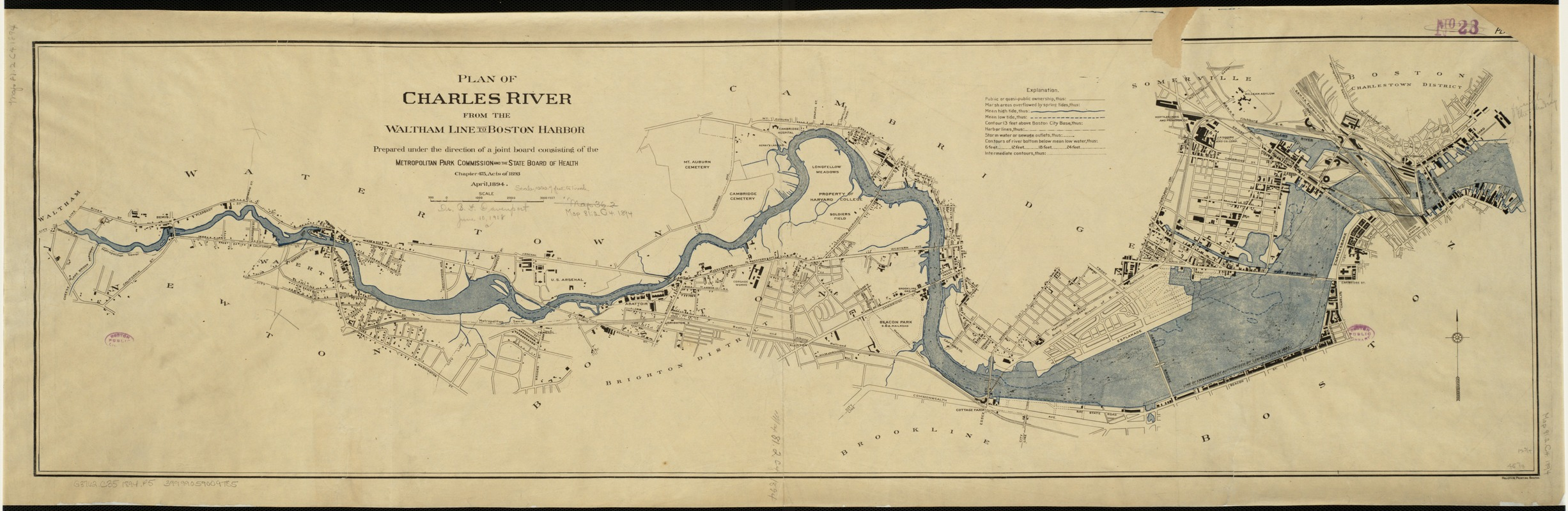 Plan of Charles River