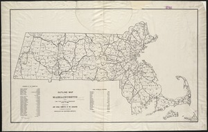 Outline map of Massachusetts showing legal voters according to Massachusetts census of 1895