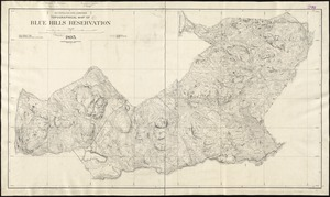 Topographical map of Blue Hills Reservation