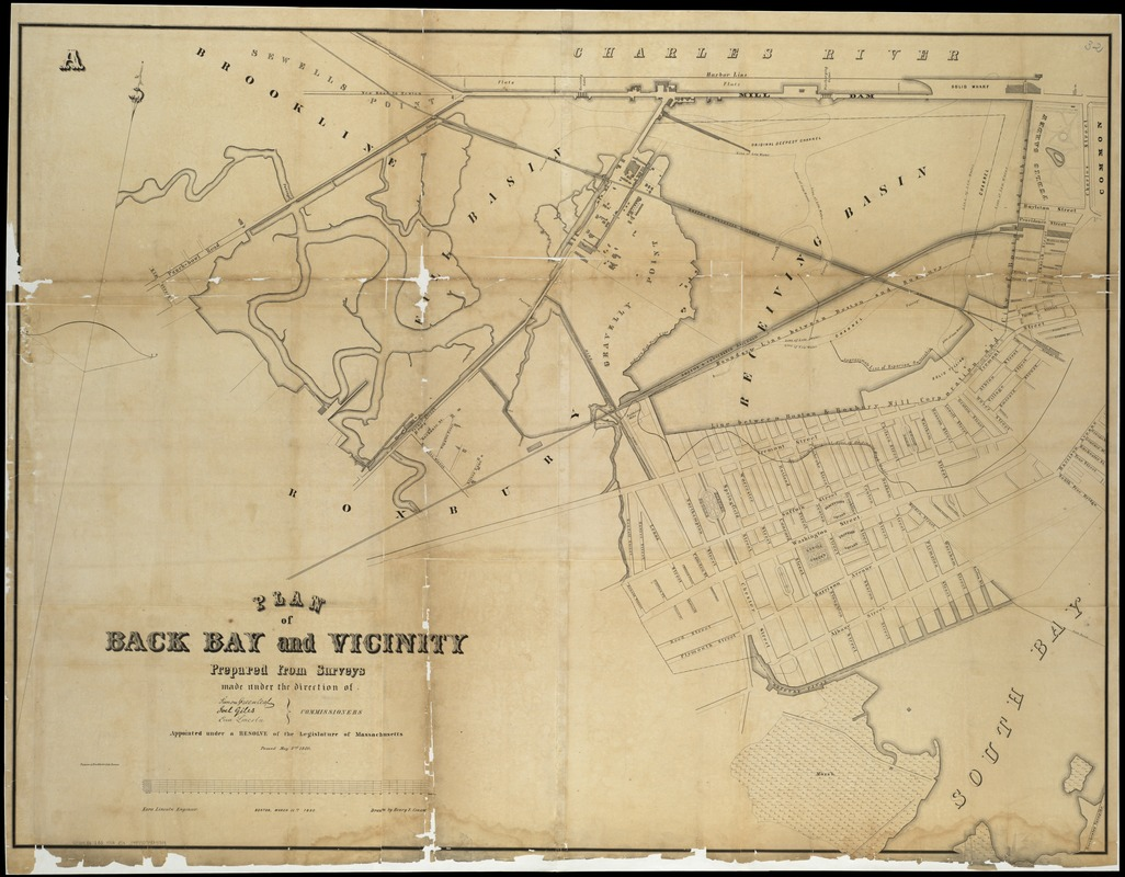 Plan of Back Bay and vicinity