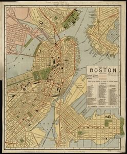 Guide map of Boston
