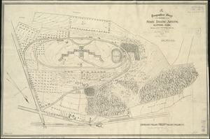 Topographical sketch of the grounds of the State Insane Asylum, Danvers, Mass