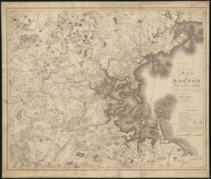 Map of Boston and its vicinity from actual surveys