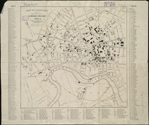 Map of Cambridge in the vicinity of Harvard College 1903-4