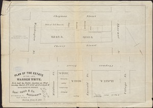 Plan of the estate of the late Warren White