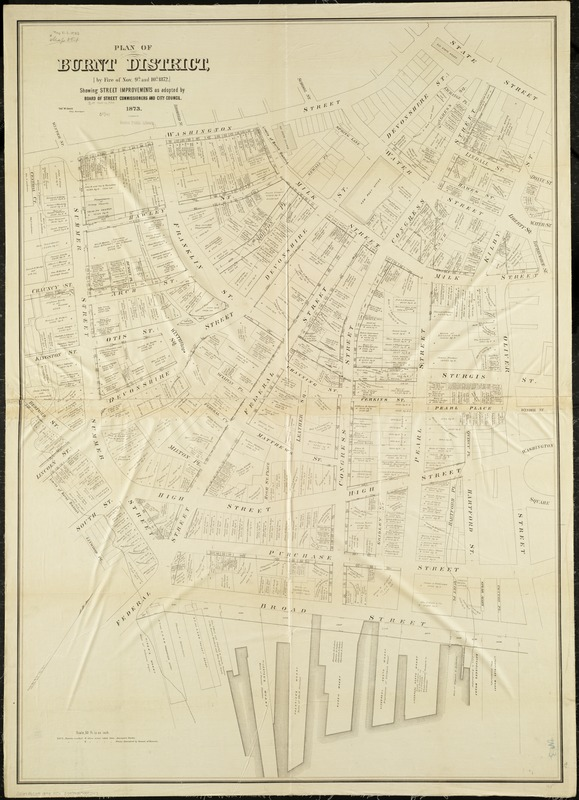 Plan of burnt district by fire of Nov. 9th and 10th, 1872