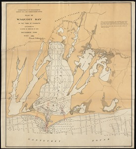 Plan of Waquoit Bay in the town of Falmouth