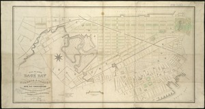 Plan of lands on the Back Bay, belonging to the Boston Water Power Co., the Commonwealth, and other parties, showing the system of streets, grades and sewers as laid out and recommended by the Back Bay Commissioners