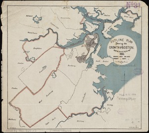 Outline plan showing the growth of Boston