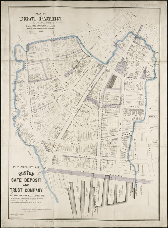 Plan of burnt district, by fire of Nov. 9th and 10th 1872