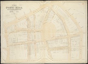 Plan of Fort Hill showing street improvements as adopted by the city council