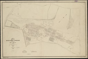 Plan of Mount Hope Cemetery belonging to the City of Boston