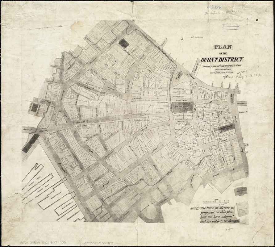 Plan of the burnt district