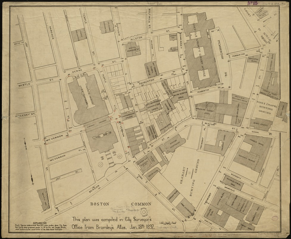 [Plan of the State House grounds and the adjacent district]