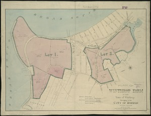 Plan of Winthrop Farm in the Town of Winthrop belonging to the City of Boston