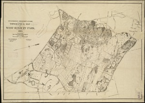 Topographical map of West Roxbury park