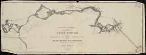 Proposed park system from the Common to the West Roxbury Park including the Back Bay and Muddy river improvements, Jamaica Pond and the Arnold Arboretum