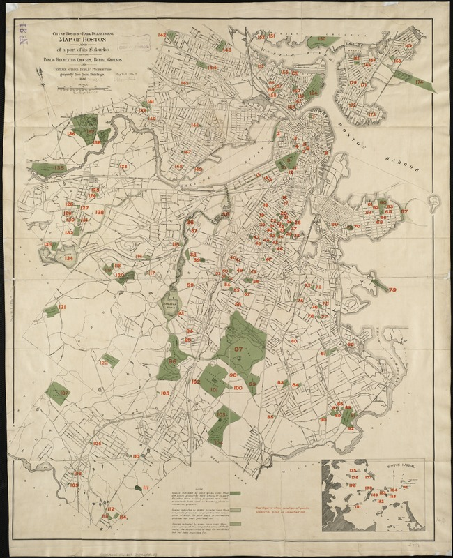 Map of Boston and of a part of its suburbs - Norman B. Leventhal Map ...
