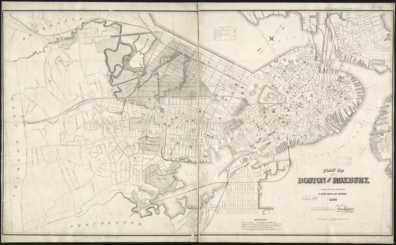 Plan of Boston and Roxbury