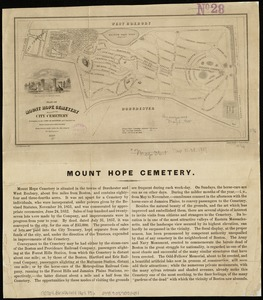 Plan of Mount Hope Cemetery