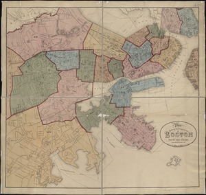 Plan showing the principal portion of Boston