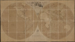 A map of the world on a globular projection