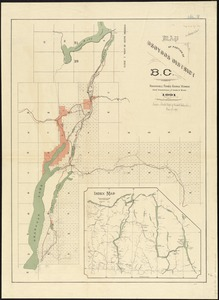 Map of portion of Osoyoos District, B.C