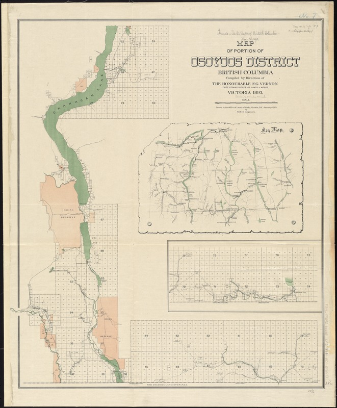 Map of portion of Osoyoos District