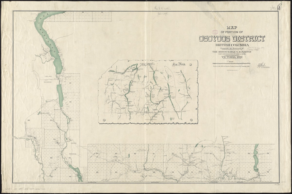 Map of portion of Osoyoos District, British Columbia