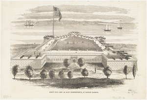 Bird's eye view of Fort Independence, in Boston Harbor