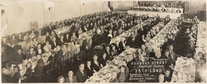 75th anniversary Ruggles Street Baptist Church, 1870-1945. Roxbury Mass. Banquet & roll call