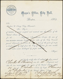 Civil War enlistment paper