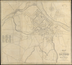 Map of the city of Lowell