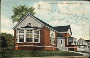 Carnegie Public Library, South Hadley Falls, Mass.