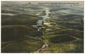 Raquette River and Long Lake in the Adirondack Mts.